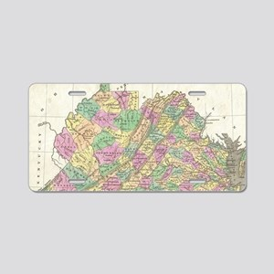Vintage Map of Virginia (18 Aluminum License Plate